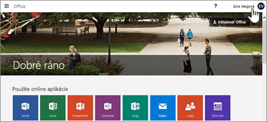 Hlavná obrazovka predplatného na domovskú stránku