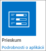 Ikona aplikácie prieskumu zahrnutá vSharePointe