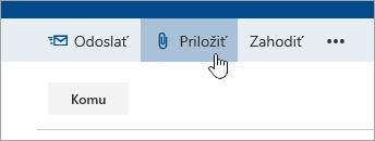 Snímka obrazovky stlačidlom Priložiť.