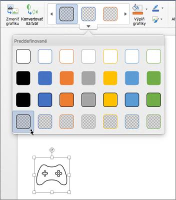 Úprava grafického štýlu ikony