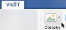 Na páse snástrojmi vyberte položku Vložiť, potom položku Obrázky apotom položku Online obrázky