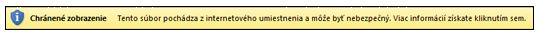 Chránené zobrazenie pre internetové umiestnenia