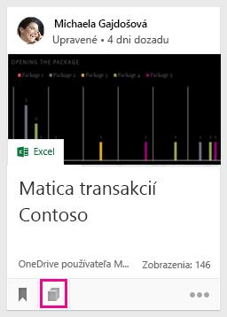 Kliknutím na ikonu pridáte dokument do panela, alebo zistíte, do ktorých panelov sa dokument pridal