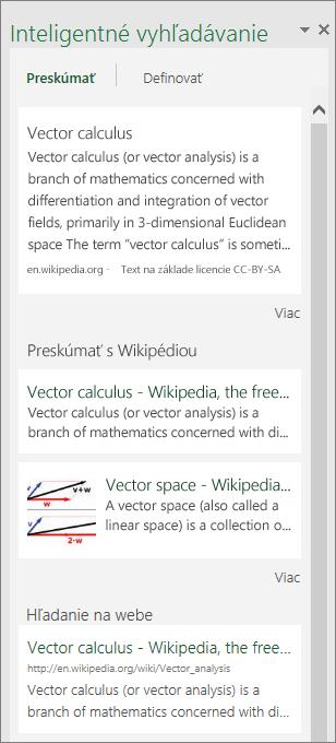 Panel Prehľady vExceli 2016 pre Windows