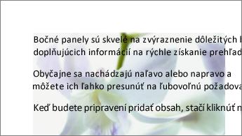 Príklad obrázka umiestneného za blokom textu