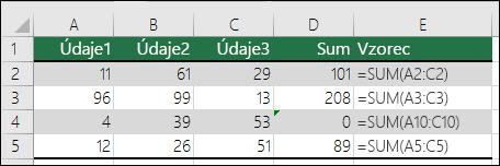Excel zobrazí chybu vtedy, keď vzorec nezodpovedá vzoru susediacich vzorcov