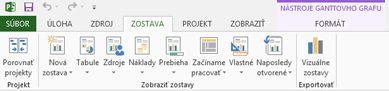 Karta zostavy v Projecte 2013