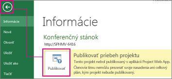 Obrázok publikovania projektu