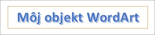 Príklad objektu WordArt