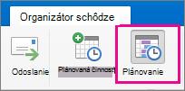 Tlačidlo plánovania Mac 2016