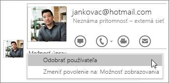 Snímka obrazovky s možnosťami Ukončiť zdieľanie vo OneNote 2016.