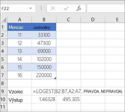 Príklad 1 –-Funkcia LOGESt