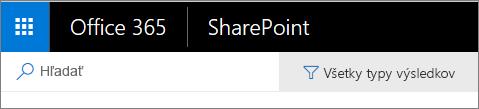 Panel vyhľadávania vSharePointe Online