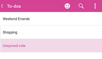 Nesynchronizovanú poznámok vo OneNote pre Android
