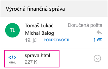 Zobrazovač OME s Outlookom pre Android 1