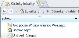 Pridávanie stránok v programe SharePoint Designer 2010