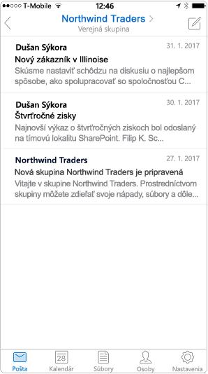 Zobrazenie konverzácie v mobilnej aplikácii Outlook