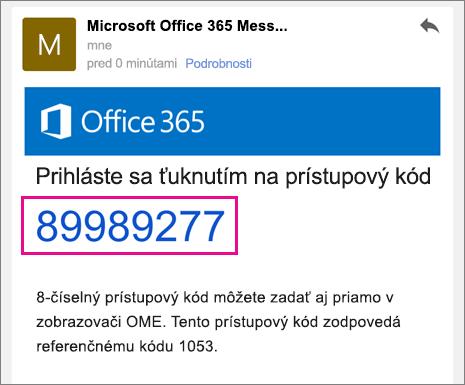 Zobrazovač OME so službou Gmail 4