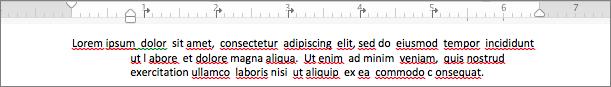 Príklad odseku s opakovanou zarážkou