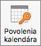 Tlačidlo Povolenia kalendára v Outlooku 2016 pre Mac