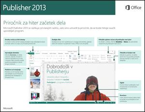 Vodnik za hitri začetek za Publisher 2013