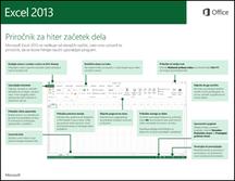 Priročnik za hiter začetek dela za Excel 2013