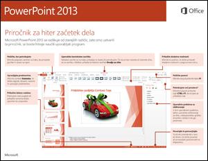 Vodnik za hitri začetek za PowerPoint 2013