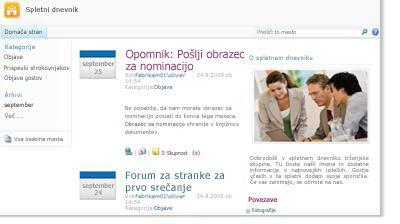 Mesto spletnega dnevnika
