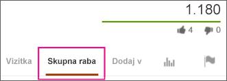 Kliknite »Skupna raba« na spletnem mestu YouTube