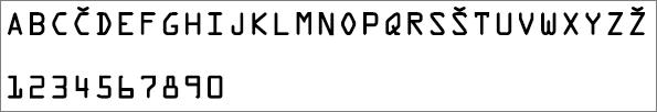 Pokaže pisavo, ki je bila uporabljena za črke in številke v ključu izdelka za Office