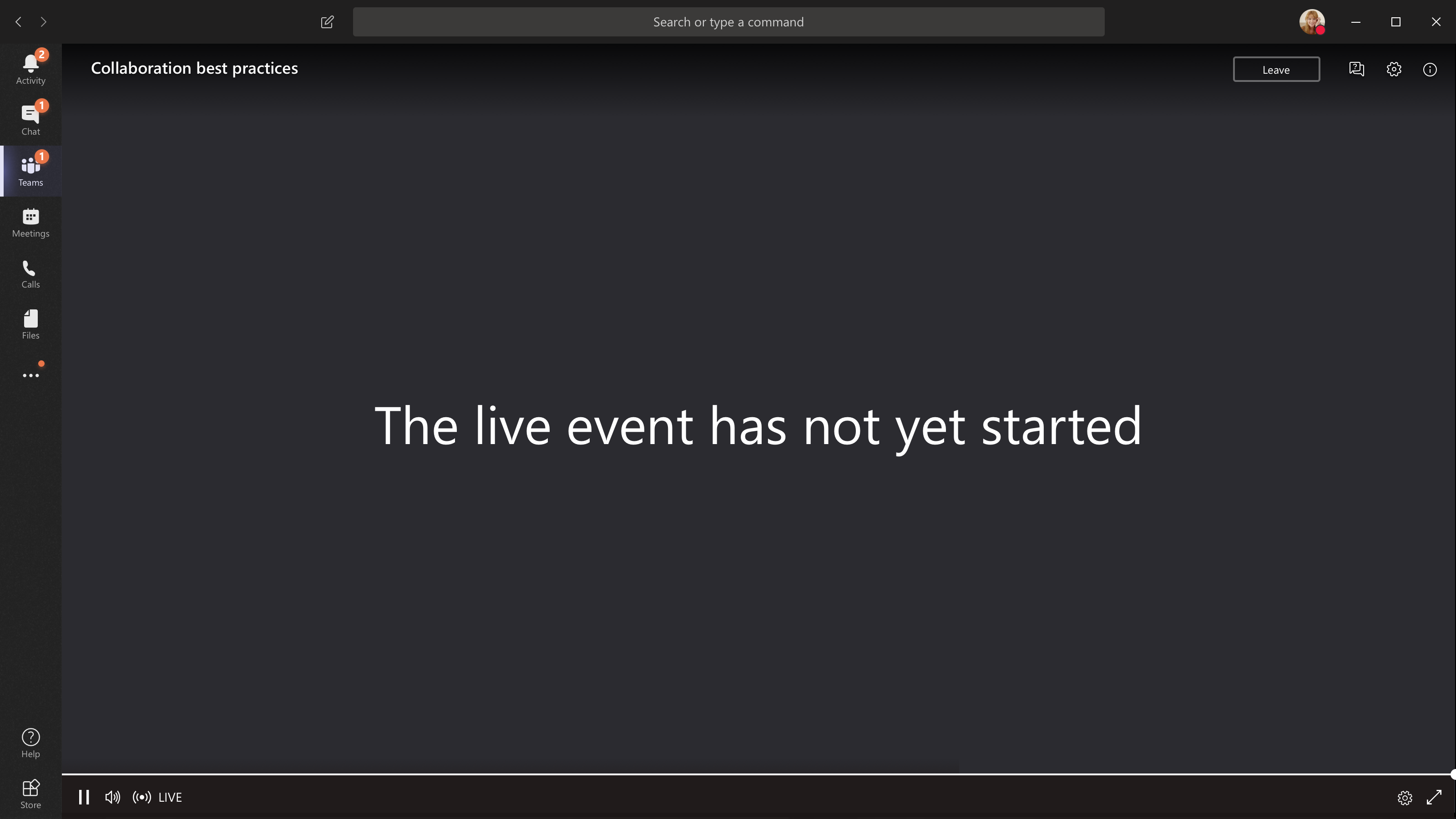 Dogodek ni zagnan