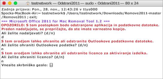 Zaženite orodje za Remove2011 s Control + kliknite, če želite odpreti.