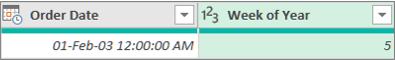 Adding a column to get the week number of a date