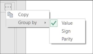 Primer dodatnih ukazov »Združi po«