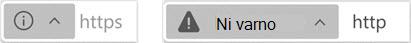 Indikator za spletna mesta, ki niso varna
