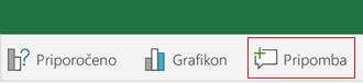 Dodaj pripombo v Excelu za Android