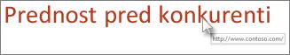 Odstranjevanje podčrte iz besedila hiperpovezave