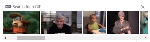 Seznam razpoložljivih GIF-ov