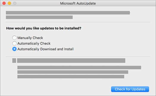 Paket posodobitev Microsoft AutoUpdate za računalnike Mac