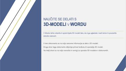 Posnetek zaslona naslovnice 3D-Wordove predloge