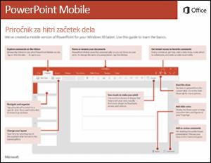 Vodnik za hitri začetek dela za PowerPoint Mobile