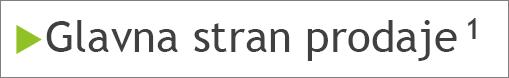 Nadpisana sprotna opomba v telesu diapozitiva