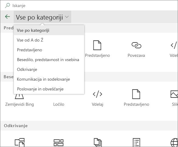 Razširjeno spletni gradnik orodij