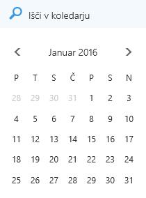 Iskalno polje v koledarju