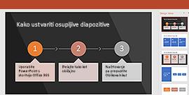 Uporaba funkcije Oblikovalnik za PowerPoint