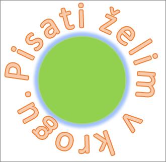 Besedilo, okrivljeno okolju okrogle oblike