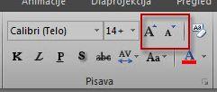 Skupina »Pisava« v Excelu