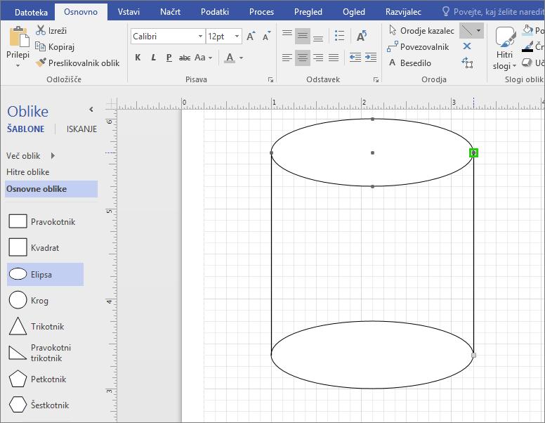 Ročno narišite črte, da dokončate obliko.