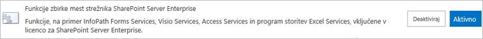 Aktiviranje funkcij zbirke mest za SharePoint Server Enterprise