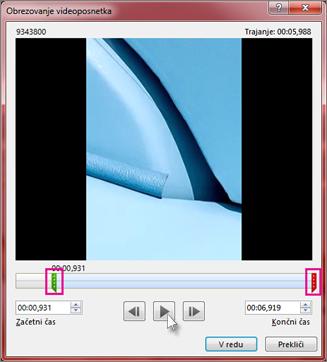 Obrezovanje videoposnetka